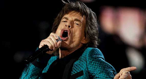 Mick Jaggar of the Rolling Stones