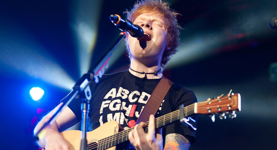 Ed Sheeran at Jingle Jam